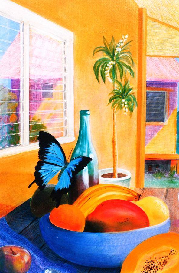 Sill Life With Ulysses Butterfly Tapestry - Textile - Sill Life With Ulysses by Ky Wilms