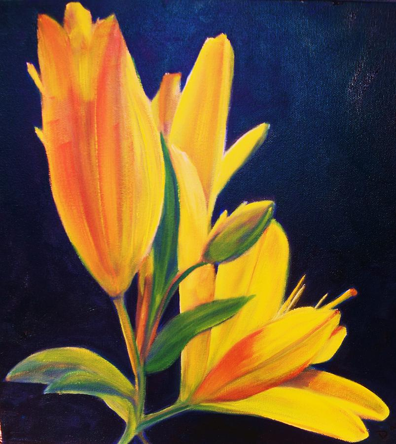 Day Lily Painting - Silly Lily by Dana Redfern