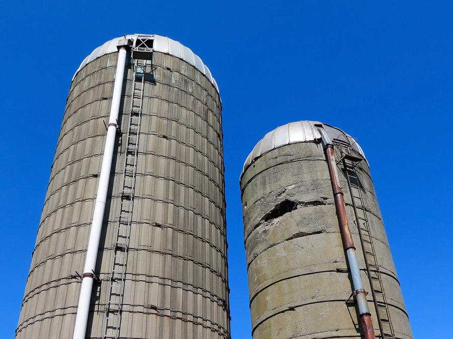 Silo Photograph - Silos by Kenneth Summers