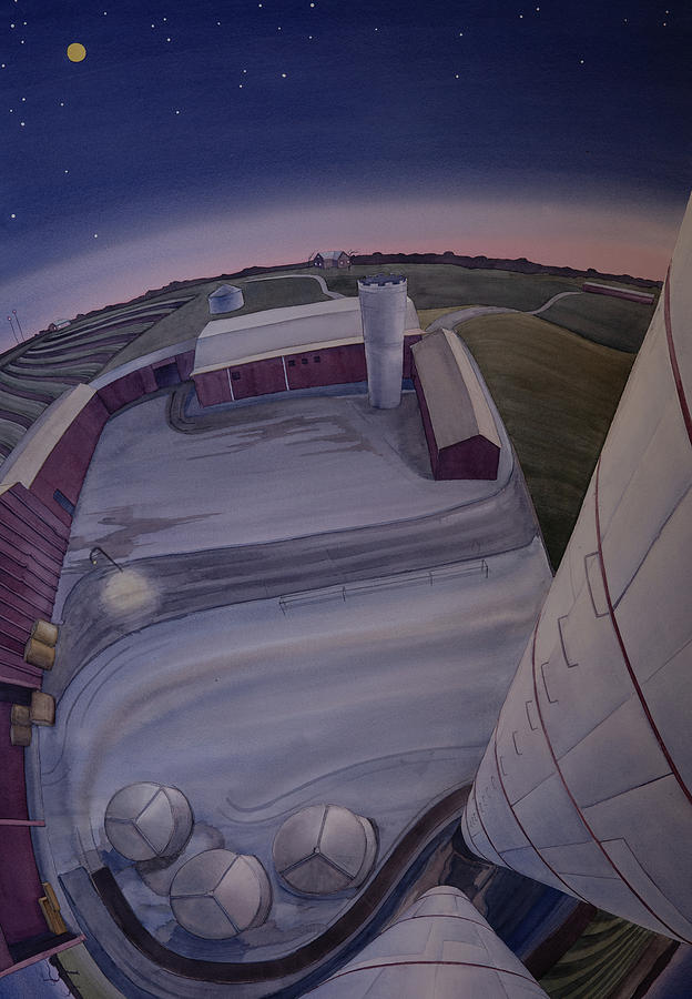 Silos Looking Down by Scott Kirby