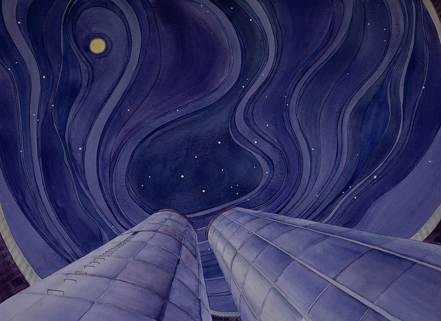 Silos Looking Up by Scott Kirby