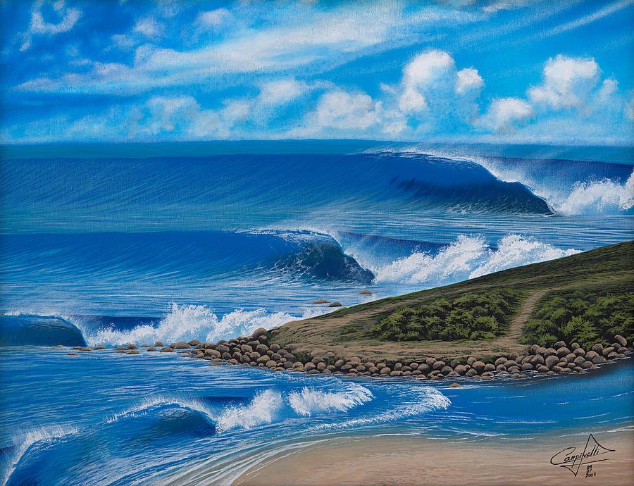 Beach Painting - Silveira Maylin Detalhe by Carlos Carpinelli