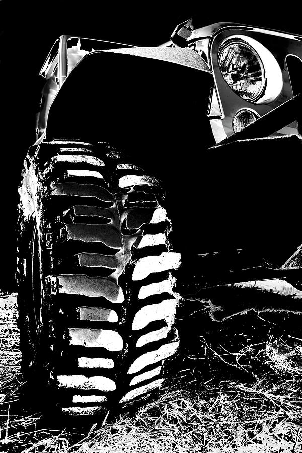 Jeep Photograph - Silver And Black Jk Mud Bogger by Luke Moore
