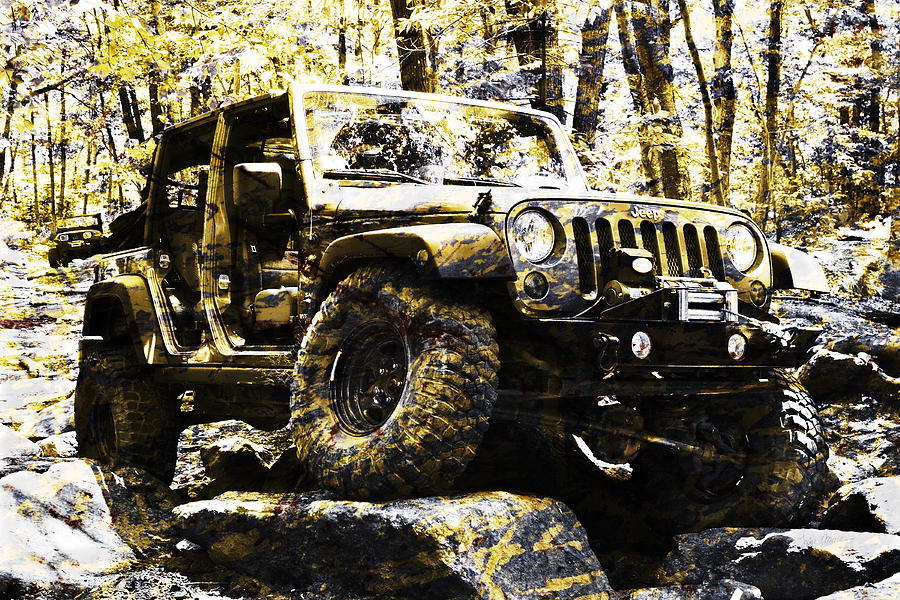 Jeep Photograph - Silver And Gold Jeep Wrangler Jku by Luke Moore