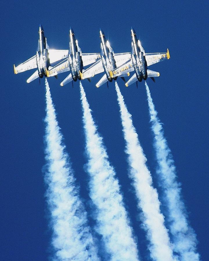 Jets Photograph - Silver Angels by Melanie Beasley