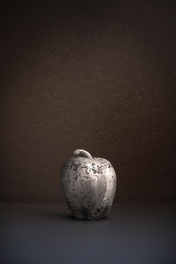 Brown Photograph - Silver Apple by Julius Reque