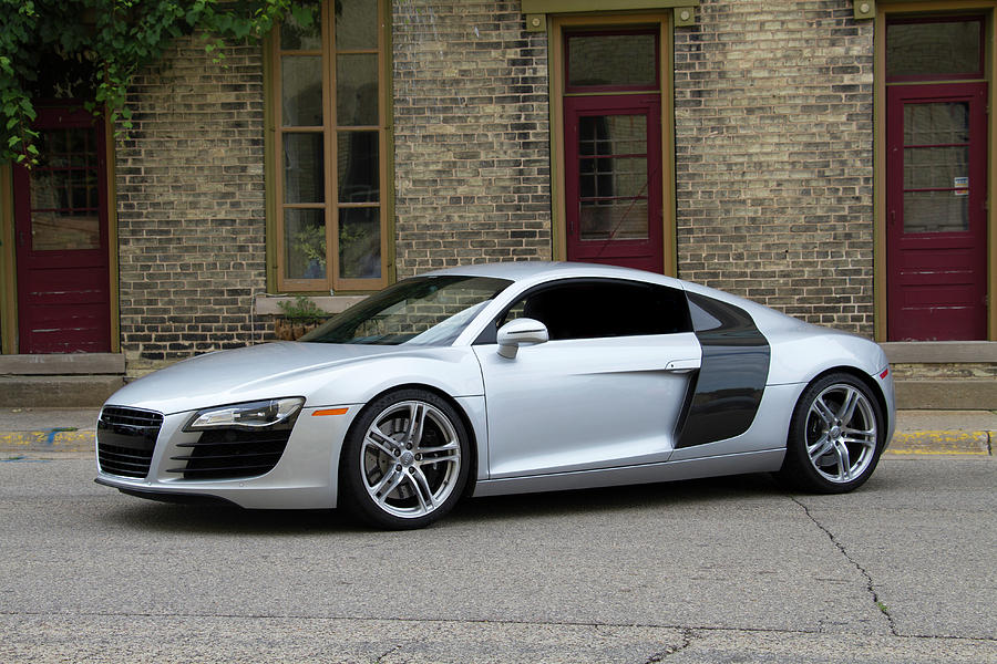 Silver Audi R8 Photograph By Joel Witmeyer