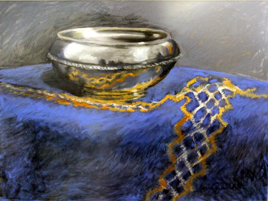 Reflections Pastel - Silver Bowl by Lenore Gaudet