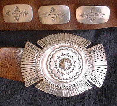 Handmade Jewelry - Silver Concho Belt by Eddie Romero