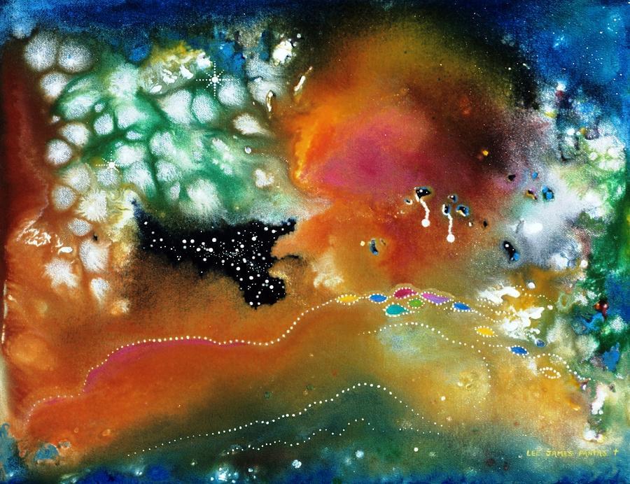 Spiritual Painting - Silver Dreams Of The Desert by Lee Pantas