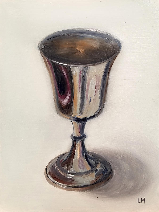 Oil Painting - Silver Goblet by Linda Merchant