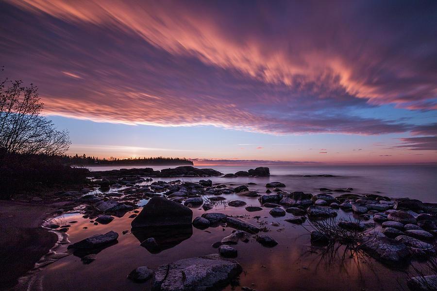 Silver Islet Photograph - Silver Islet Sunrise by Linda Ryma