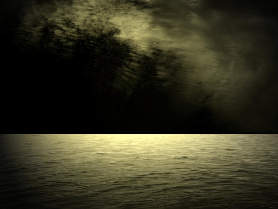 Ocean Digital Art - Silver Light by Juana Maria Garcia-Domenech