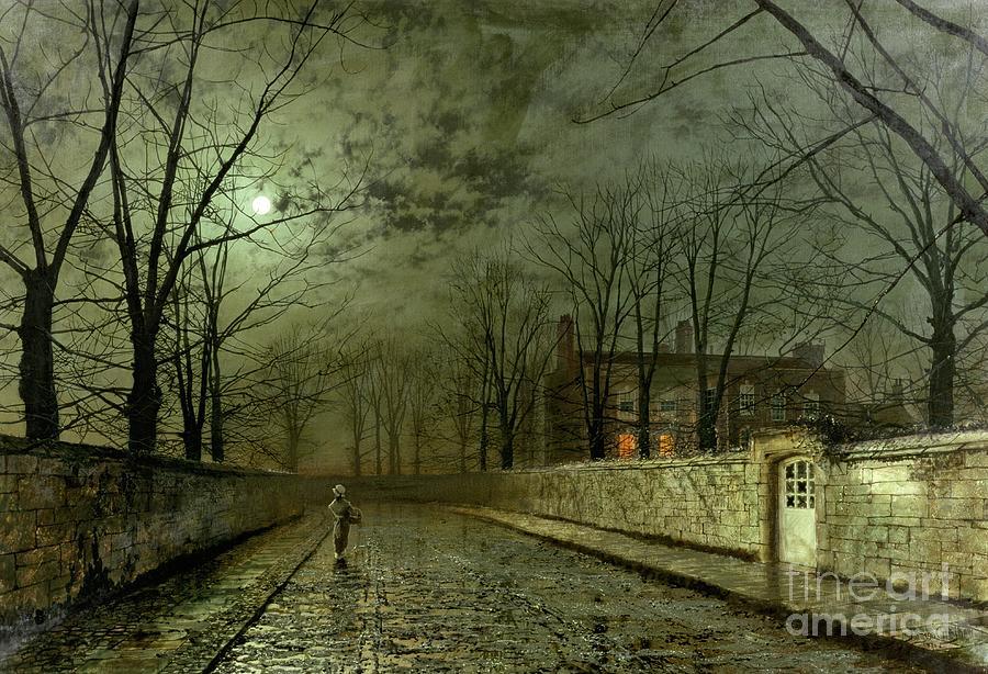Silver Moonlight Painting - Silver Moonlight by John Atkinson Grimshaw