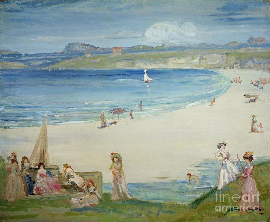 Silver Painting - Silver Sands by Charles Edward Conder