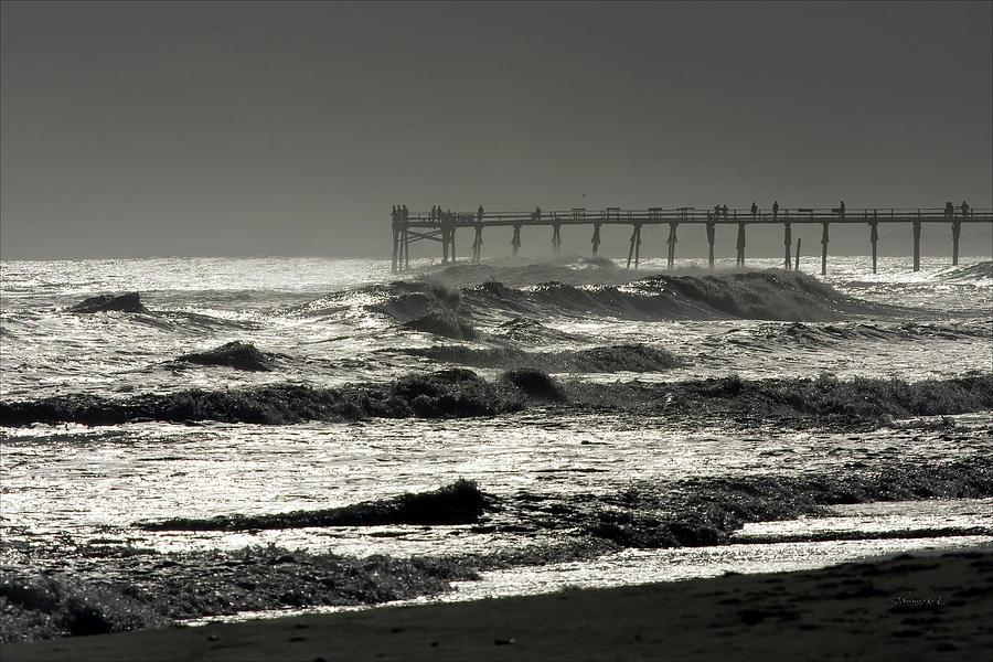 Photo Photograph - Silver Sea 1 by Alan Hausenflock