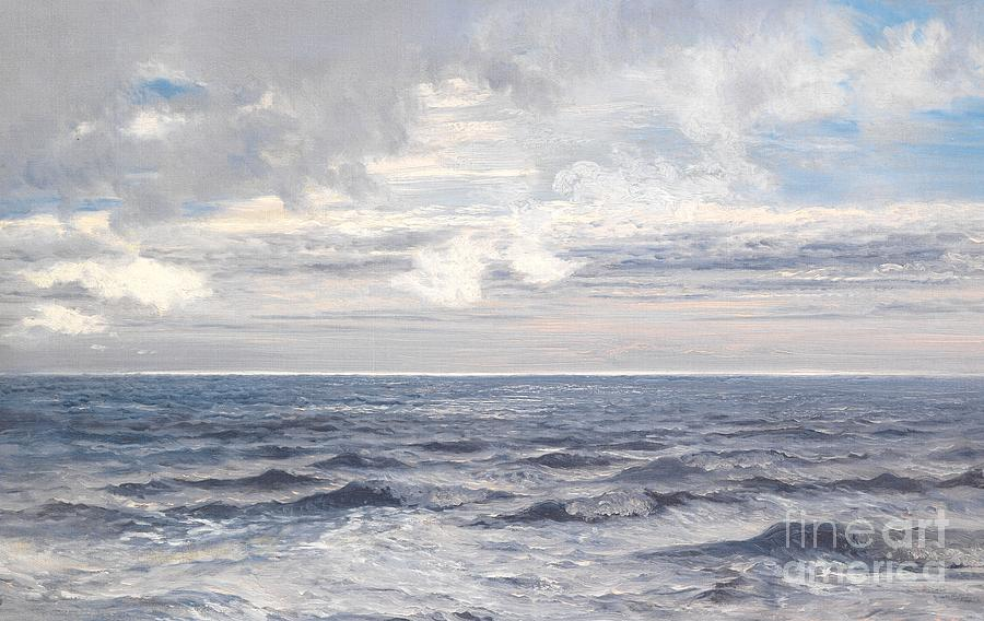 Seascape Painting - Silver Sea by Henry Moore