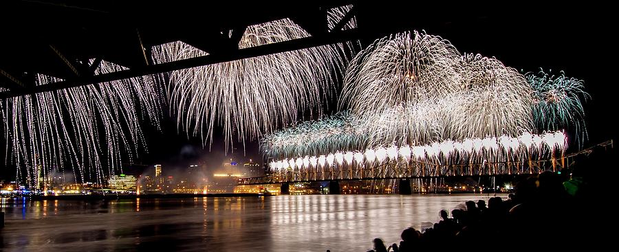 Fireworks Photograph - Silver Will-o-the-wisp by Nick Roberts