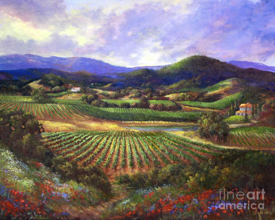 Landscape Painting - Silverado Valley Blooms by Gail Salituri