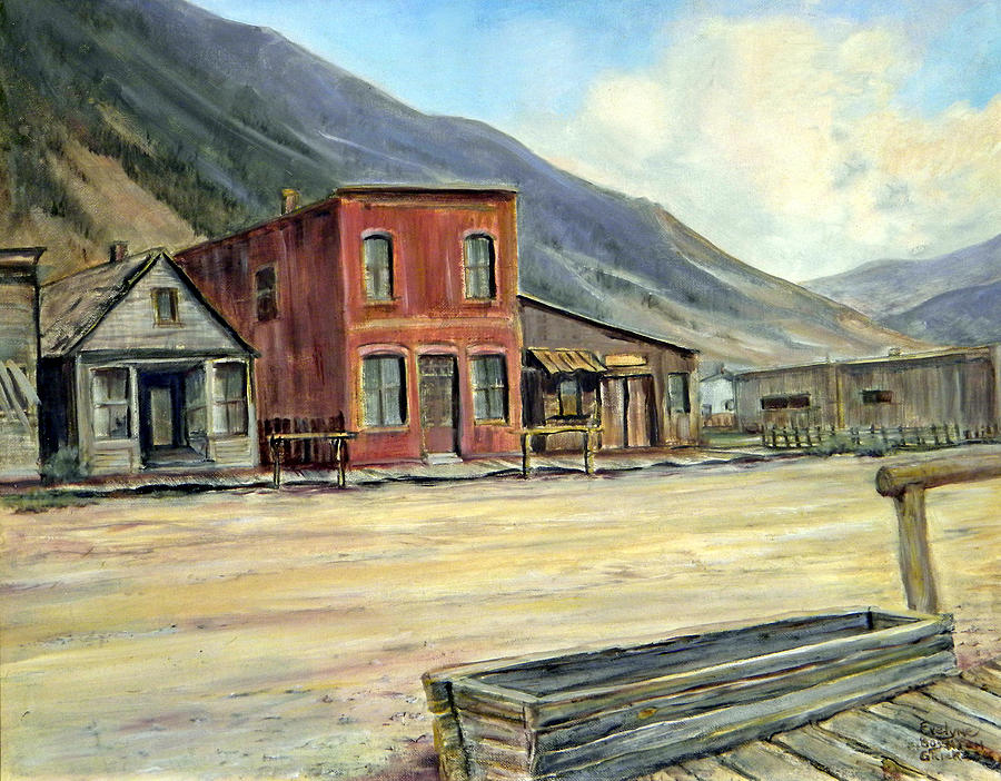 West Painting - Silverton Colorado by Evelyne Boynton Grierson
