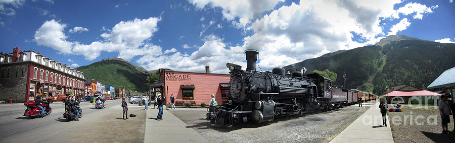 Colorado Photograph - Silverton Durango Steam Train - Silverton Colorado by Bruce Lemons