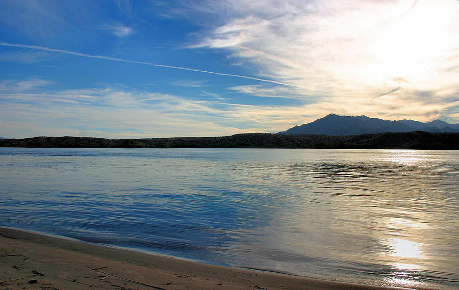 Lake Photograph - Silvery Reflection by Kristin Elmquist