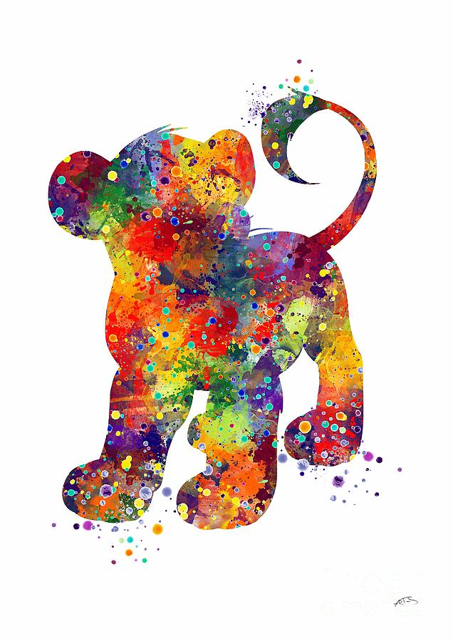 Simba The Lion King Watercolor Art Digital Art By Svetla