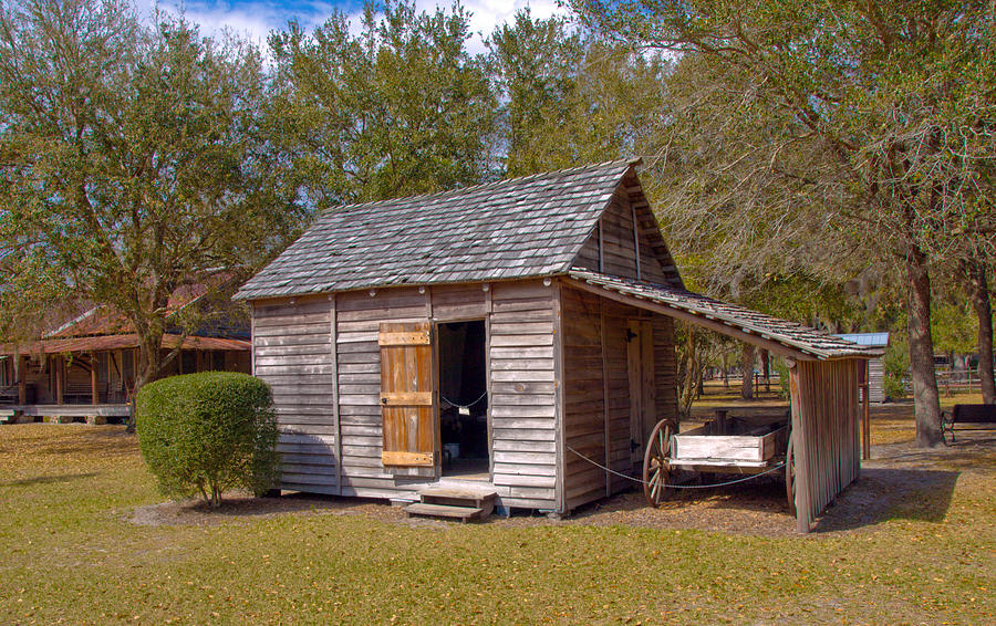 Cabin Photograph - Simmons Cabin Built In 1873 In Orange County Florida by Allan  Hughes