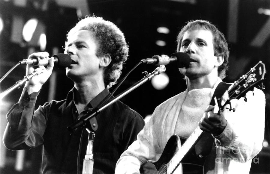 Simon & Garfunkel Photograph - Simon and Garfunkel 1982 by Chris Walter