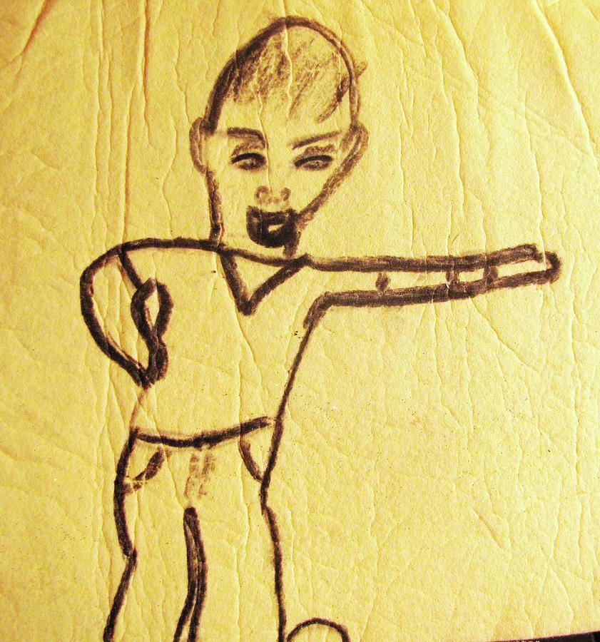 Drawing Drawing - Simon by HollyWood Creation By linda zanini