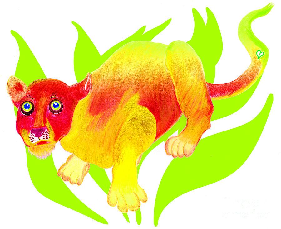 Wild Cat Painting - Simon by Tess M J Iroldi