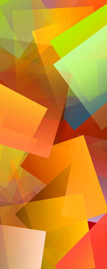 Abstract Digital Art - Simple Cubism 14 by Chris Butler
