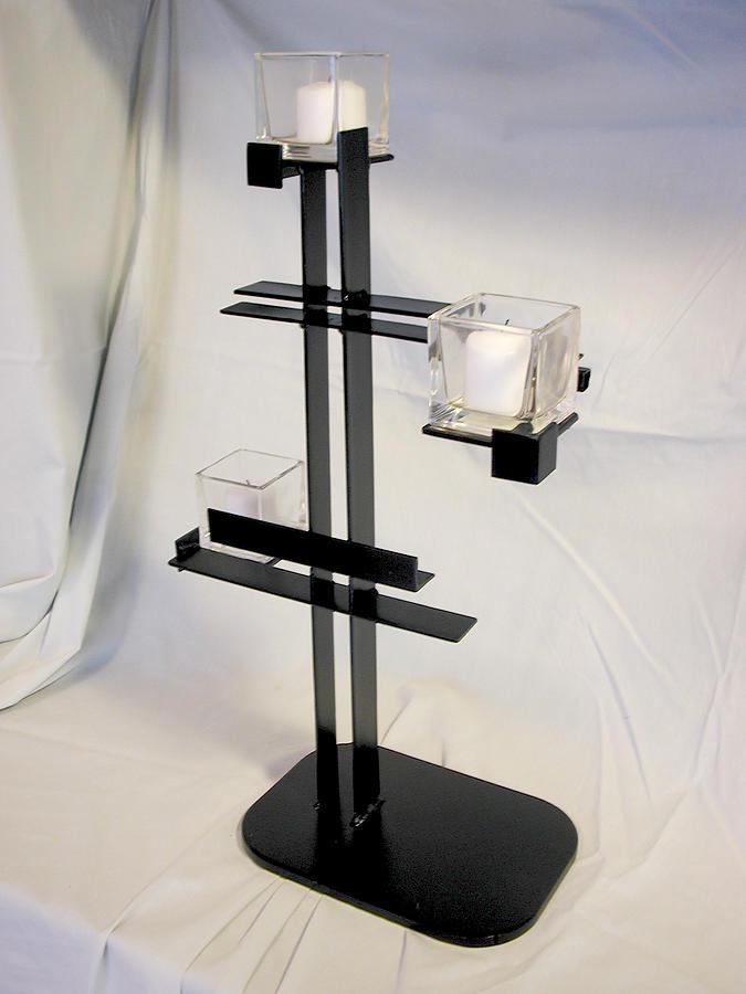Candle Holder Sculpture - Simple De Stijl Candle Holder  by John Gibbs