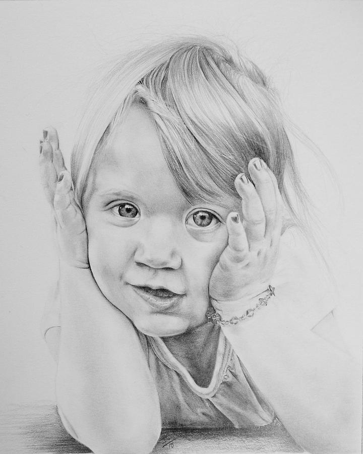 Portrait Drawing - Simple Innocence  by Patrick Entenmann
