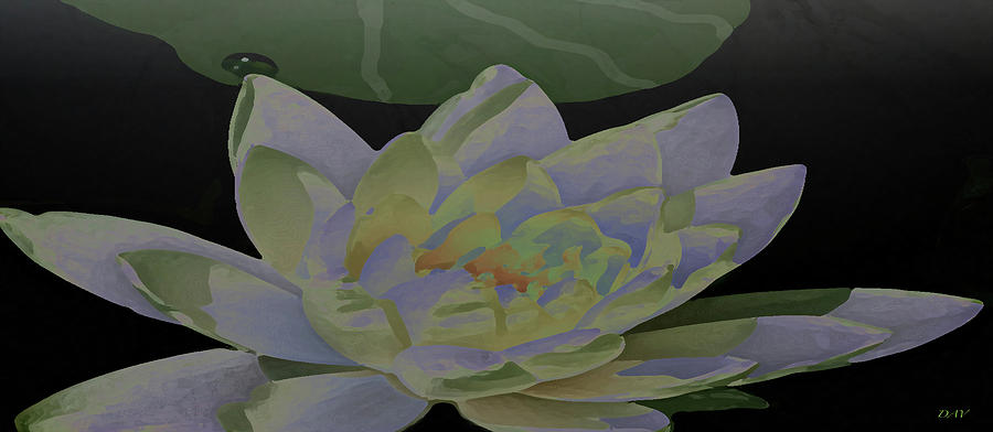Simple Lily Painting - Simple Lily by Debra     Vatalaro