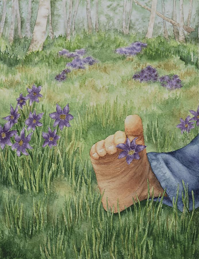 Children Painting - Simple Pleasures by Kathleen Keller