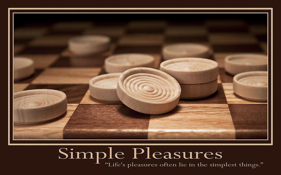 Checkers Photograph - Simple Pleasures Poster by Tom Mc Nemar