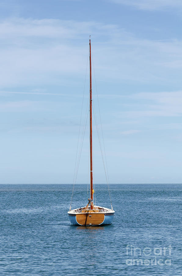 Boat Photograph - Simple Sailboat  by Steev Stamford