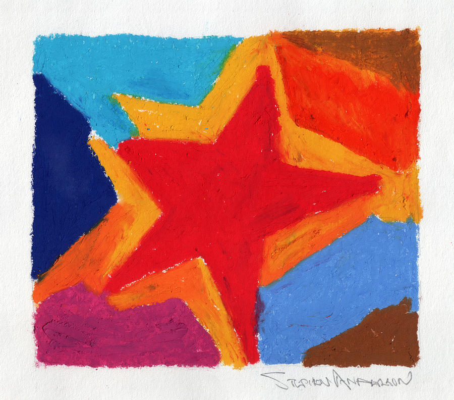 Star Painting - Simple Star by Stephen Anderson