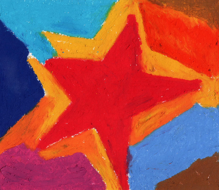 Star Painting - Simple Star-straight Edge by Stephen Anderson