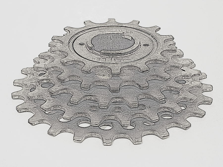 Simplex 5-speed Freewheel Sketch by Matthew Ostrander