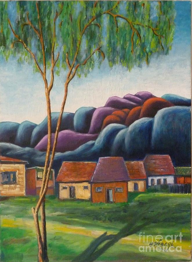 Landscape Painting - Simplicity by Ushangi Kumelashvili