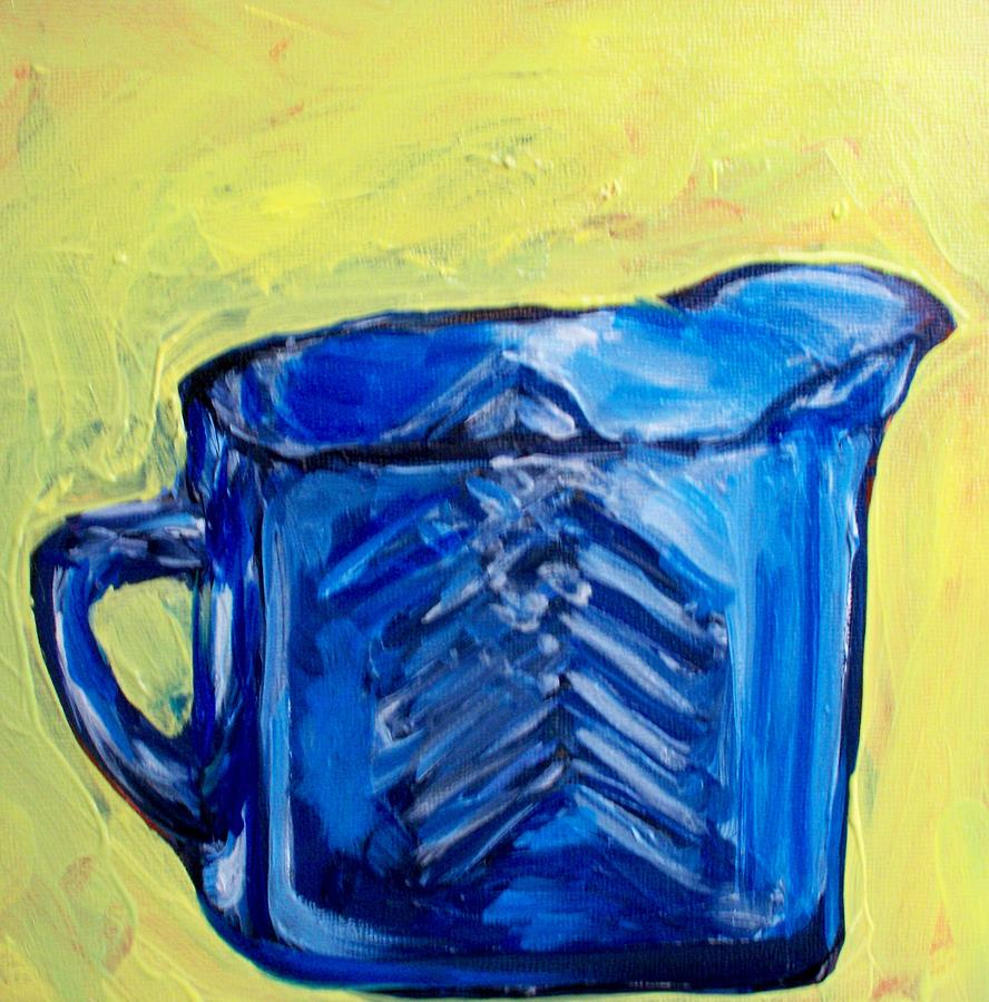 Blue Painting - Simply Blue by Sheila Tajima