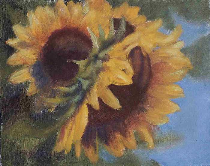 Simply Sunflowers Painting by Ruth Ann Sturgill