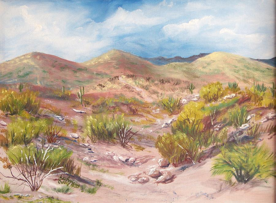 Landscape Painting - Simply The Desert by Jean Ann Curry Hess