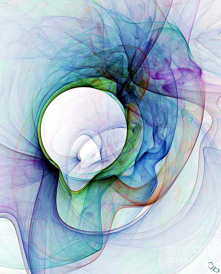 Smoke Digital Art - Simulated Colored Smoke by Ron Bissett