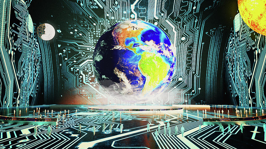 Simulation Theory Digital Art