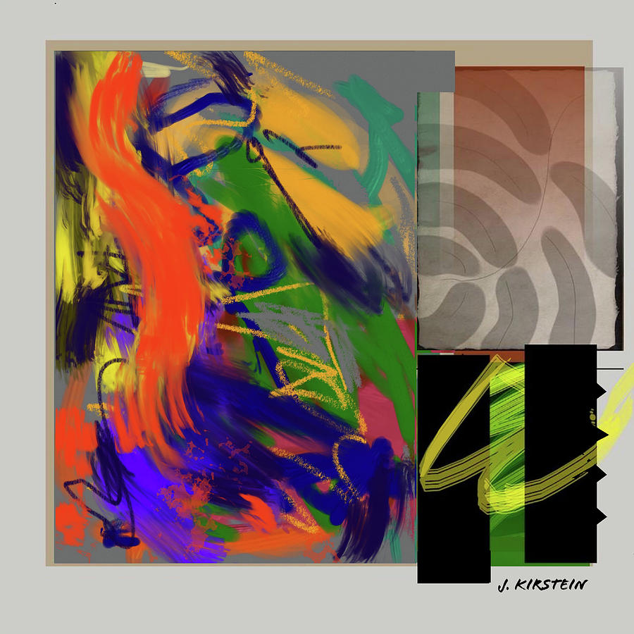 Expressionism Digital Art - Simultaneous 2 by Janis Kirstein