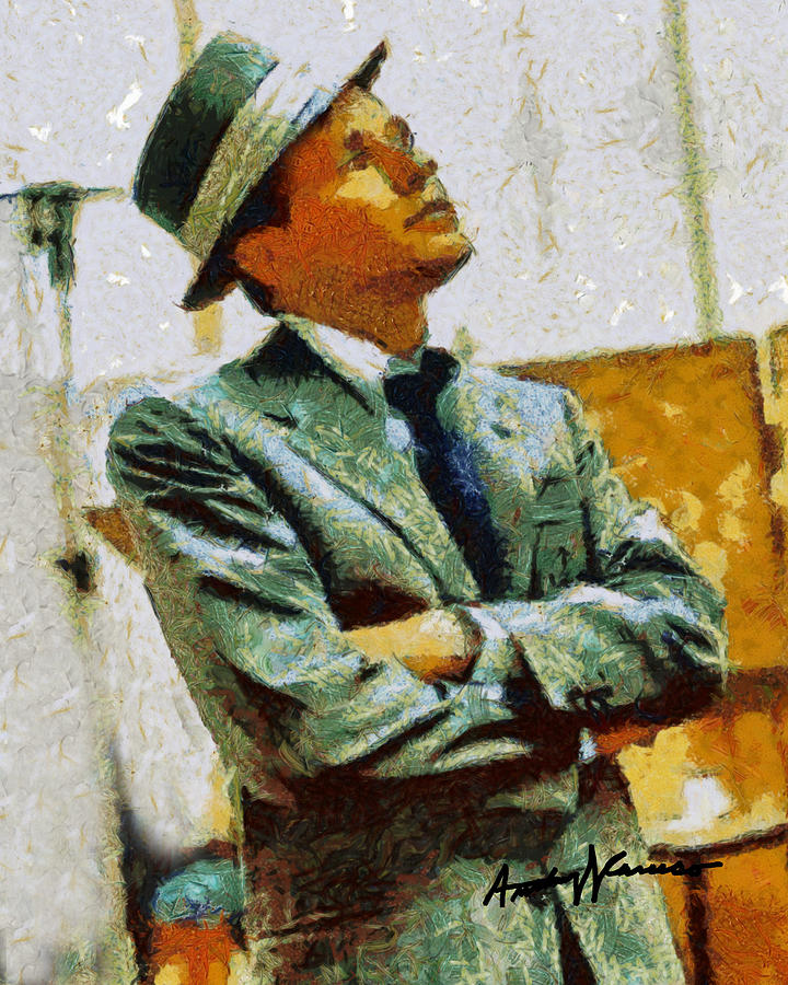 Frank Painting - Sinatra by Anthony Caruso