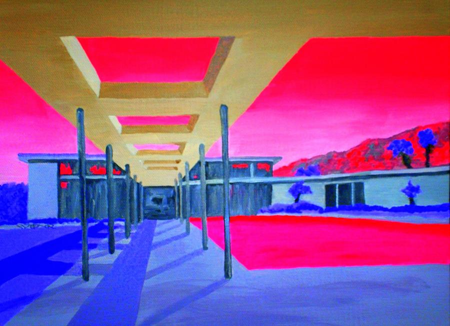 Architecture Painting - Sinatra House Four by Randall Weidner